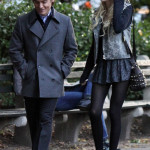 "Taylor Momsen and Kevin Zegers at the ""Gossip Girl"" set"